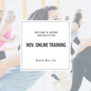November Online SHiNE Instructor Certification
