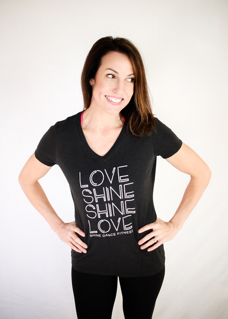 LOVE SHiNE V-Neck (Grey)